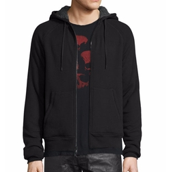 John Varvatos Star USA - Fleece-Lined Front-Zip Hoodie
