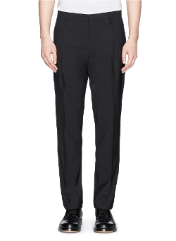 Lanvin - Front Pleat Wool Blend Pants
