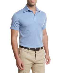 Ermenegildo Zegna - Short-Sleeve Pique Polo Shirt