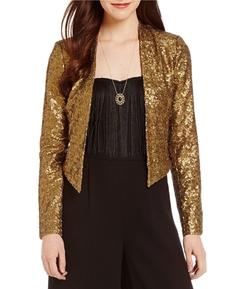 Jessica Simpson  - Leonie Metallic Sequin Blazer