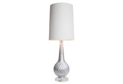 One Kings Lane - Knight Table Lamp, Lacquered Silver