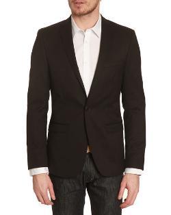 BEN SHERMAN  - Camden Black Wool 1-button Jacket
