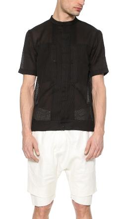 Helmut Lang - Gauze Short Sleeve Shirt