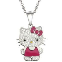 JCPenny - Hello Kitty Crystal Stainless Steel Pendant Necklace