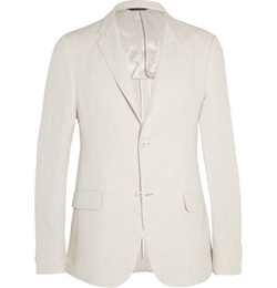 Calvin Klein Collection   - Stone Thompson Slim-Fit Linen Suit Jacket