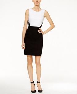 Calvin Klein - Sleeveless Colorblocked Sheath Dress