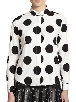 Red Valentino  - Polka Dot Cotton Shirt
