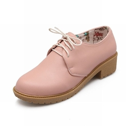 Show Shine - Chunky Heel Oxford Shoes