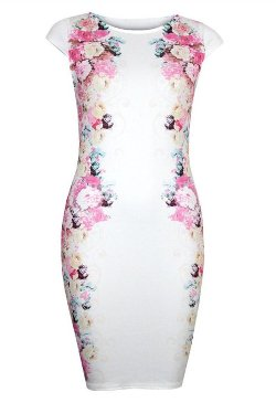 Acefast Inc - Floral Bandage Cocktail Mini Dress