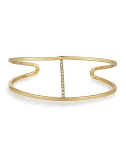 Lydell NYC  - Golden Wire Cuff Bracelet