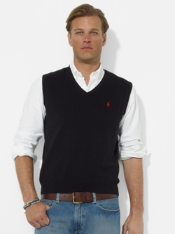 Ralph Lauren - Pima Cotton V-Neck Vest
