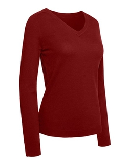 RubyK  - Classic V-Neck Long Sleeve Knit Sweater
