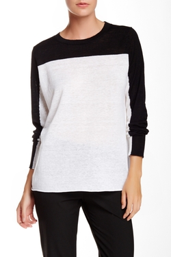 360 Cashmere - January Colorblock Linen Sweater