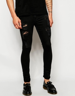 Asos - Extreme Super Skinny Jeans With Extreme Rips