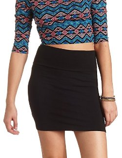 Charlotte Russe - Body-Con High-Waisted Mini Skirt