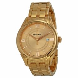 Versace  - Apollo Gold Dial Rose Gold-Plated Mens Watch