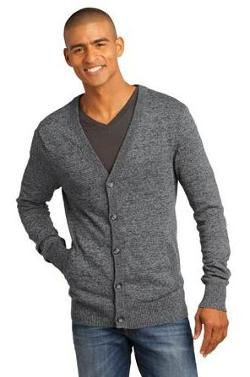 Sanmar - District Made - Mens Cardigan Sweater