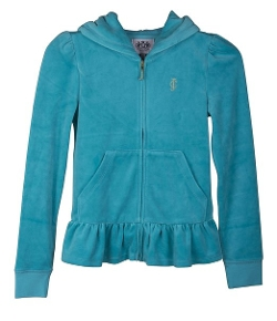 Juicy Couture - Ruffle Velour Hoodie