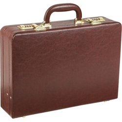 AmeriLeather  - Expandable Executive Faux Leather Attache Case