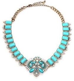ABS by Allen Schwartz - Jewelry Ornate Statement Necklace