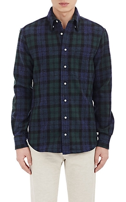 Gitman Vintage - Windowpane Plaid Felt Shirt