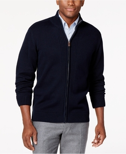 Tricots St Raphael - Zip-Front Ribbed Cardigan