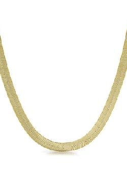 Refinement Clothing Co.  - The God Or Guns 14K Gold Plated Herringbone Chain