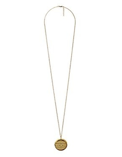 Charlotte Russe - Geometric Etched Locket Pendant Necklace