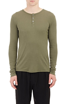 Atm Anthony Thomas Melillo - Waffle-Knit Henley Shirt