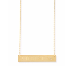 Jennifer Zeuner  - Harley Personalized Diamond Bar Necklace
