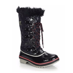 Sorel - Tofino Faux Fur-Trimmed Quilted Lace-Up Boots