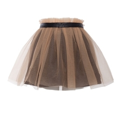Yufash  - Belt Layered Skirt