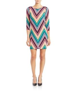 Trina by Trina Turk - Zigzag Print Knit Dress