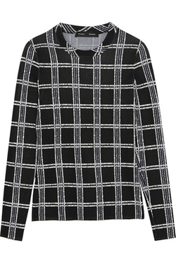 Proenza Schouler - Plaid Stretch Knit Top