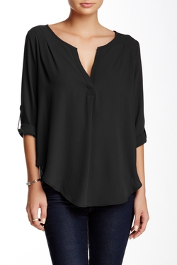 Lush  - Roll Sleeve Blouse