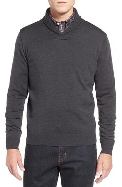 Thomas Dean  - Shawl Collar Sweater