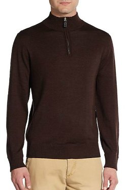 TailorByrd  - Watteau Quarter-Zip Sweater