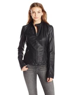 Tripp NYC - Faux Leather Racing Moto Jacket