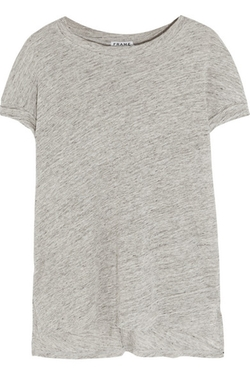 Frame Denim - Le Muscle Slub-Linen T-Shirt