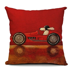 Doll King - Driving Dogs Throw Pillow
