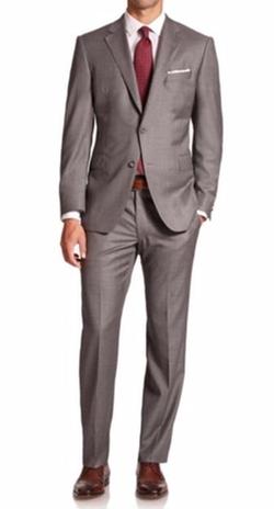 Saks Fifth Avenue Collection  - Samuelsohn TexturedWool Suit
