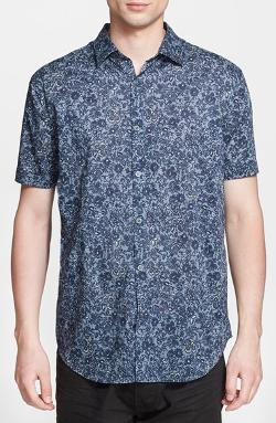 John Varvatos Star USA  - Slim Fit Short Sleeve Print Sport Shirt