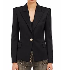 Balmain - Twill Single-Button Blazer