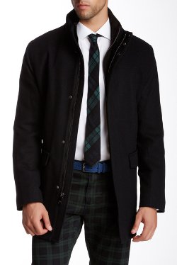 Andrew Marc - Hearts Wool Blend Twill Coat