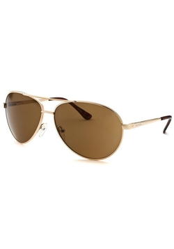 Kenneth Cole Reaction - Aviator Rose-Tone Sunglasses