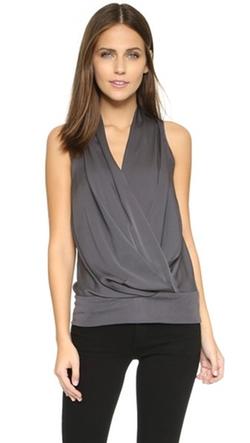 Emerson Thorpe  - Olina Drape Front Silk Top