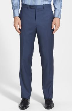J.b. Britches  - Torino Flat Front Wool Trousers