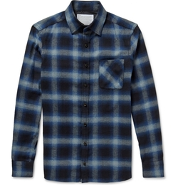 Kolor - Slim-Fit Checked Cotton-Flannel Shirt