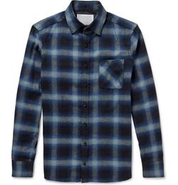 Kolor - Slim-Fit Checked Cotton-Flannel Shirt