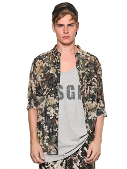MSGM - Floral Print Cotton & Silk Muslin Shirt